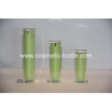 airless pump bottle in green color(FA-03-B30)