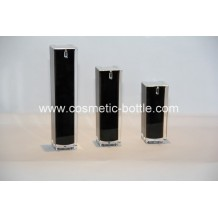 cosmetic airless pump bottle in black(FA-03-B15)