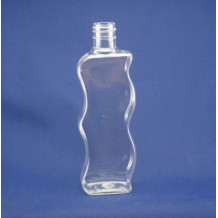 130ml plastic bottle for cosmetic, wave shape(FPET130-B)